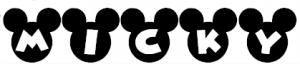 無料 お名前シール 無料ダウンロード : アルファベットがミッキーの顔 ...