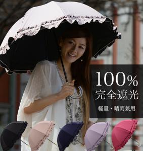 遮光100%日傘
