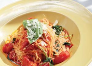 冷たいトマトの冷製カッペリーニ