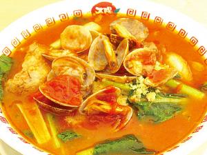 太陽のボンゴレ麺