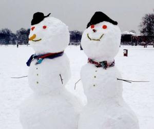 笑える雪だるまアイデア