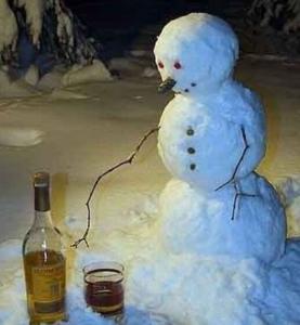 雪だるまの晩酌