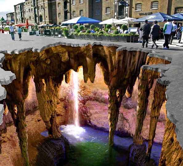 3Dストリートチョーク画