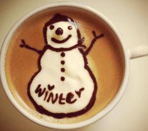 コーヒーアート冬