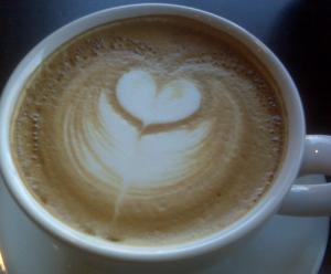 コーヒーアートハート