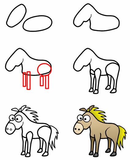 干支の馬の描き方