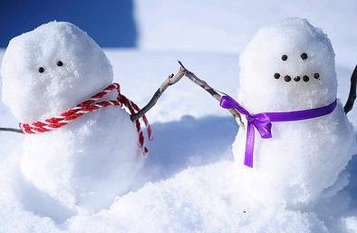 小さな雪だるま作り方