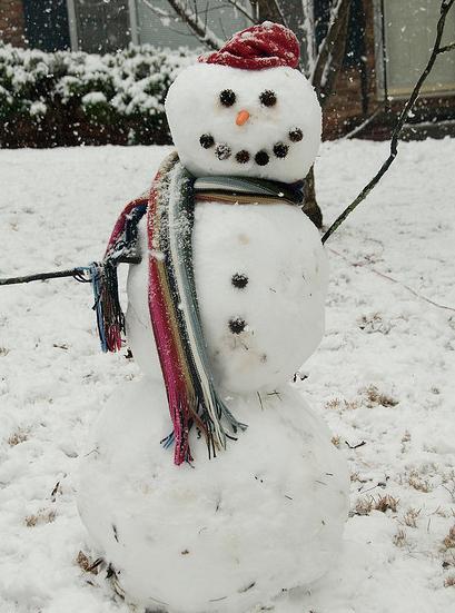 雪スノーマン作り方