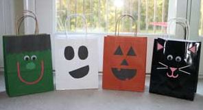 ハロウィン手作り紙袋