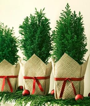 小さなクリスマスツリー飾り付け