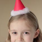 手作り子供サンタ帽子