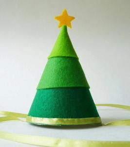 手作りクリスマスパーティーハット