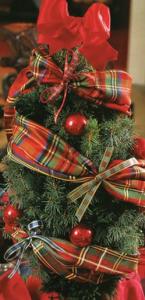 クリスマス北欧リボン飾り