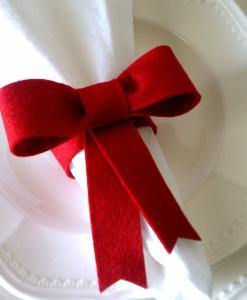 クリスマス手作りナプキン留め