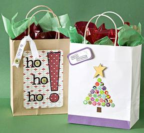 手作りクリスマスギフト紙袋