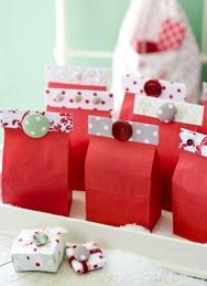 手作りクリスマスバッグ
