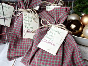 クリスマス簡単ギフトバッグ作り方