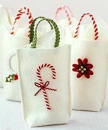 手作りクリスマスギフトバッグ