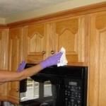 キッチンキャビネット掃除方法