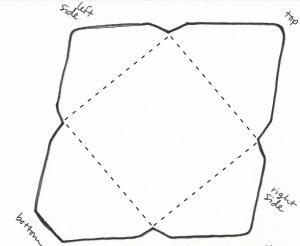 正方形封筒テンプレート