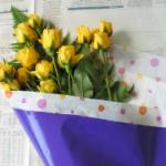 花束ラッピングの仕方