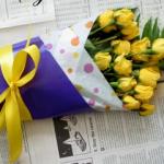 花束おしゃれギフトラップ方法
