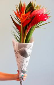 母の日花束ラッピング方法