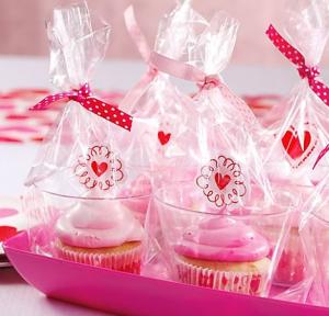 バレンタインカップケーキギフトラップ