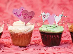 バレンタインカップケーキの包装方法
