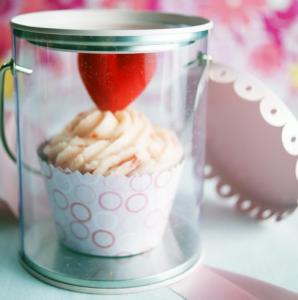 バレンタインかわいいカップケーキラッピング