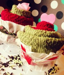タオルカップケーキ飾り方例