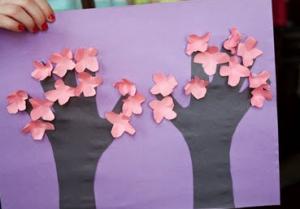 桜キッズクラフトやり方