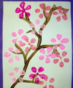 キッズペイント桜クラフト
