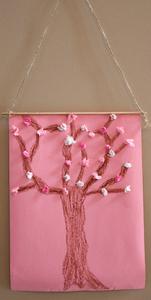 桜の木の掛け軸クラフト