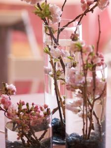桜フラワーアレンジ方法