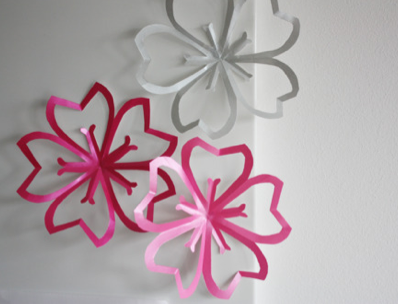 手作り桜デコレーション作り方 ... : 折り紙 折り方 サイト : 折り方