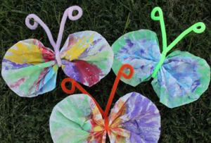 キッズクラフト紙の蝶々