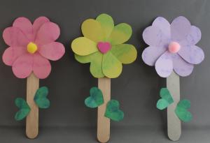春のお花作り方子供クラフト