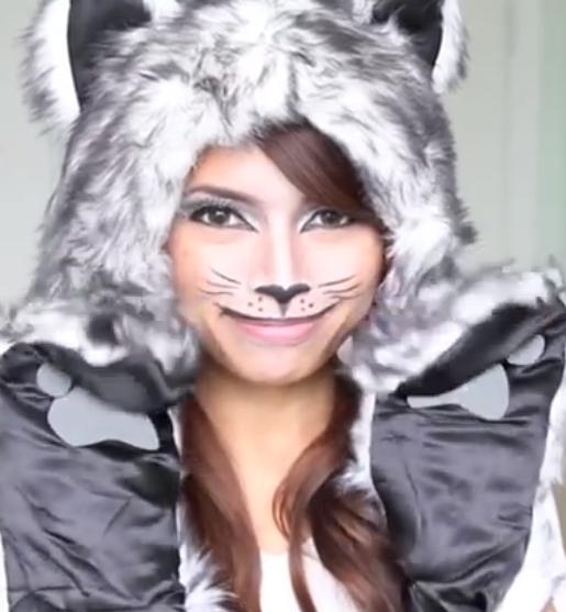 猫メイクやり方動画