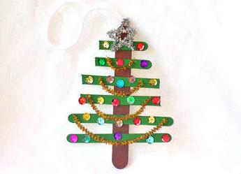 子供工作クリスマスツリー