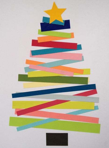 子供簡単クリスマスツリー作り方