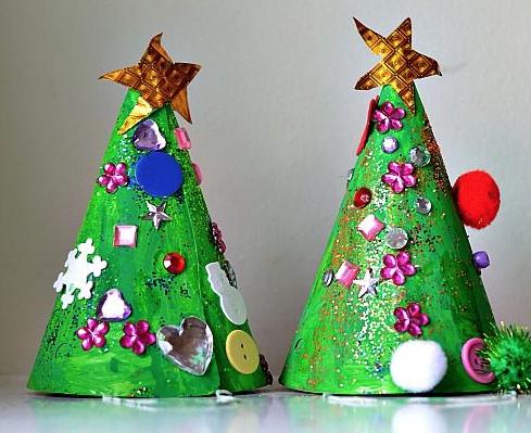 子供クリスマスクラフトツリー