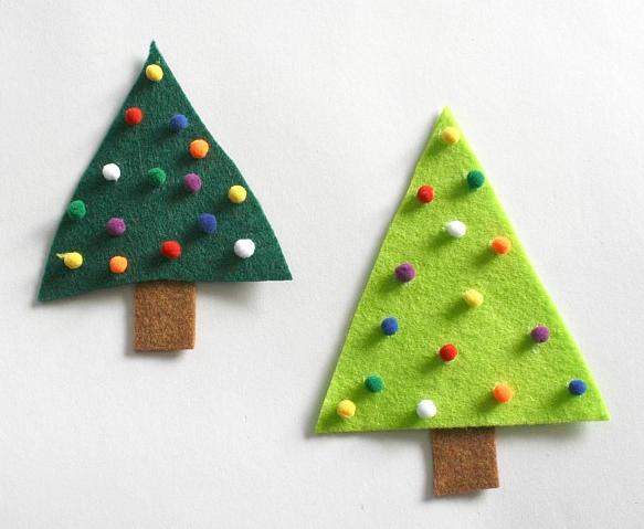 子供クラフトクリスマスツリー
