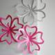 手作り桜デコレーション作り方 紙クラフトの桜飾り